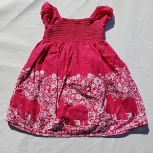 Gymboree Dresses - Gymboree Dress Size 3T Batik Summer Hippo Pink